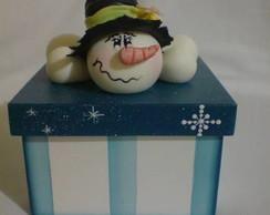 Caixa para bombons boneco de neve