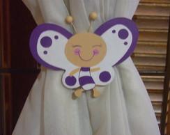 Amarrador de cortina borboleta