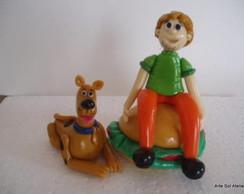 Topo de Bolo: Salsicha e Scooby
