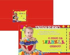 Convite Ingresso com foto