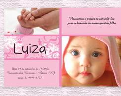 Convite Batizado Luiza