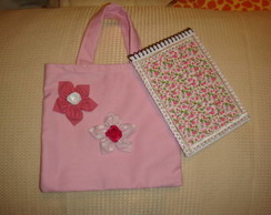 kit bolsa infantil  +bloco de anota��es