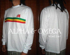 Camiseta Reggae Roots BRANCA (mg. longa)
