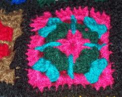 Parte de colcha de crochet