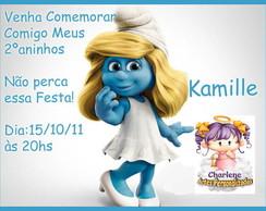 convite Smurfette