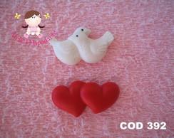 C�d 392 Molde pombo e cora��o