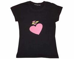 Camiseta Cora��o e Bombom (Vendida)