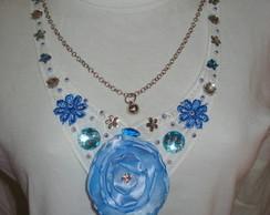 Maxi colar azul