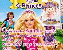 Arte do Convite barbie escola de Princes