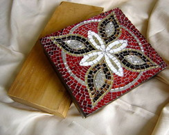 """Mosaico Caixa """"Borboleta"""""""