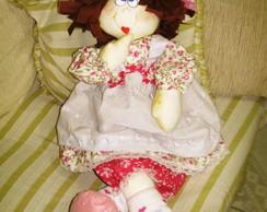 boneca isabela e borboletas rosa