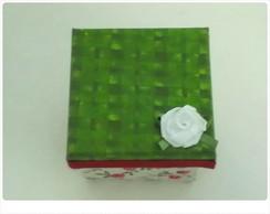 Mini Caixinha em mdf forrada com tecido