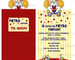 Convite vertical circo