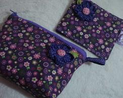 n�cessaire e porta absorvente floral