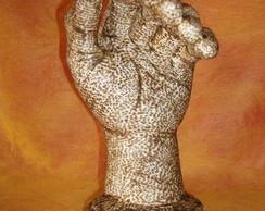 Escultura pirografada
