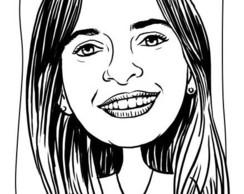 Caricatura de rosto em Branco e Preto