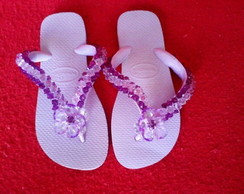 Chinelo Lil�s bordado