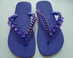 Chinelo customizado Roxo