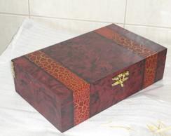 Natal - Caixa para vinho e frutas secas