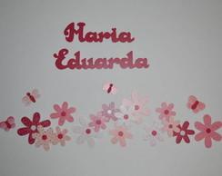 Border Flores Rosa e Pink