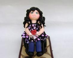 Topo de bolo feito para uma Cadeirante
