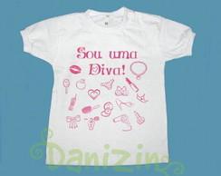 """T-Shirt Beb� """"SOU UMA DIVA!"""""""