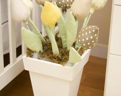 Vaso de ch�o de tulipas