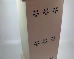 Porta-papel higi�nico de madeira e tecido