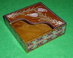 Porta guardanapo de papel em madeira/mdf