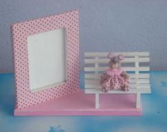 porta retrato rosa e marrom