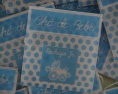 Convite Ch� de Beb� - sach� de ch�