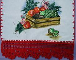 Pano de prato cesta de frutas