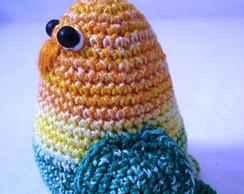 Periquito miniatura em croch�