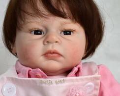 Boneca Reborn Izadora cabelo implantado