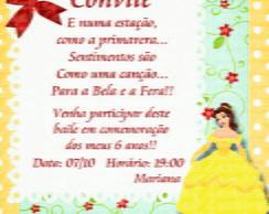 Convite Princesa Bela Disney