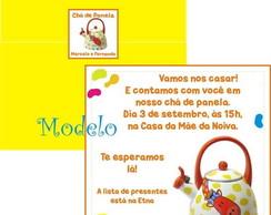 Convite Ch� de Panela Girafa Colorida