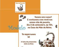 Convite Ch� de Panela Chaleira Girafa