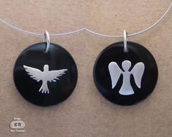 vlt145- Pingente Esp�rito Santo e Anjo