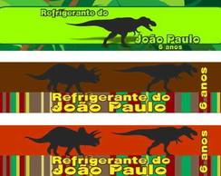 Dinossauros r�tulo �gua refrigerante tag