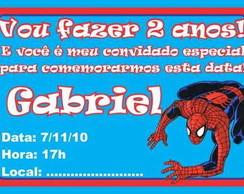 Homem Aranha convite anivers�rio