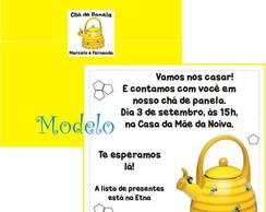 Convite Ch� de Panela Chaleira de Abelha