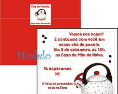 Convite Ch� de Panela Chaleira Galinha