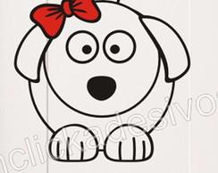 Adesivo geladeira cachorra - g15