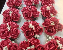 mini cachepot com rosas
