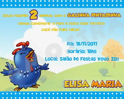 Convite Galinha Pintadinha (Arquivo)
