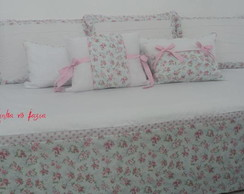 Kit cama auxiliar floral 8 pe�as