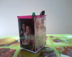Porta L�pis Personalizado c/Foto e Tema