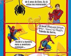 Convite Gibi - Homem Aranha