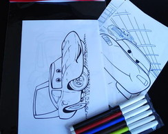 Carros Pixar kit para colorir