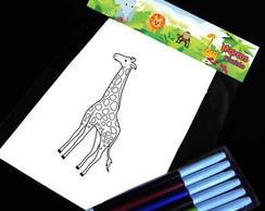 Safari kit para colorir kit para desenho